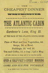 Advert for the Atlantic Cabin Restaurant 6658